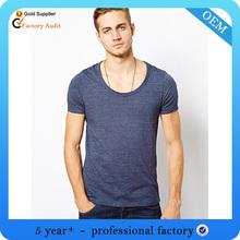 New promotion men scoop t shirt blank