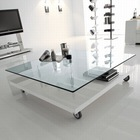 High quality clear flat tempered glass table top