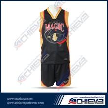 Full sublimation college basketball uniform design