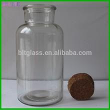 500 ml de vidrio decorativo botella con corcho para el regalo