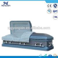 Cheap funeral metal casket for sale YXZ-1821