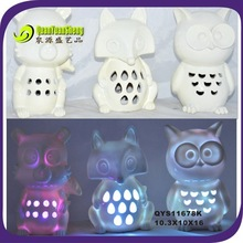 Fall harvest give thanks outdoor decoraiton polyresin led owl statue