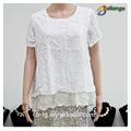 La mujer blusas& tapas tipo de producto blusa de encaje de moda nuevo hueco fuera de blusa de moda para dama