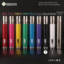 Carbon Fibre Printing One Week Usage EGO II Twist 2200mAh Battery E-cigarette eGo