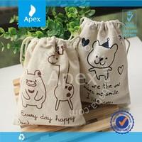 wholesale cotton linen drawstring bag