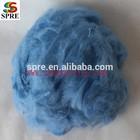 1.5D light blue polyester staple fiber light blue polyester staple fiber 1.5D polyester staple fiber dope dyed color PSF