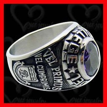 Attention: new arrival cheap stainless steel black onyx class ring