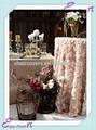 Yht#154 rosette taft polyester bankett hochzeit großhandel billige tischdecke leinen overlay