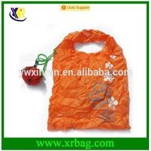hot selling nylon pumpkin shaped folding shopping bag