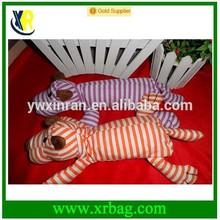 fashion folding cotton stripe dog animal foldable shopping bag