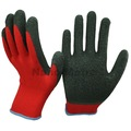 Nmsafety top vente rouge polycoton liner couché noir latex des gants de travail