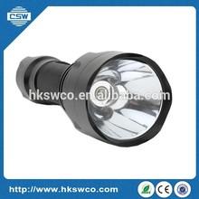 18650 Battery White/Yellow/Blue Light Optional CREE Flashlight