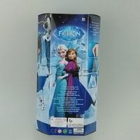 2015 Fashion Frozen Dolls Anna Elsa Dolls with music light, Children Toys Set Baby doll Toy