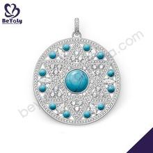 Christmas wholesale round shape silver925 jewelry set blue stone