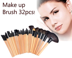 32 PCS Makeup Brush Set Cosmetic Pencil Lip Liner Make Up Kit Holder Bag sv004483#