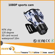 1080P digital waterproof video camera for bike and helmet
