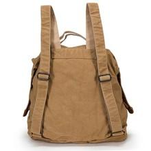Canvas vintage khaki laptop backpack rain cover