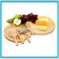 Pivotant conseil 5 fromage pces/planche de bois fromage avec un couteau/ronde plateau de fromage