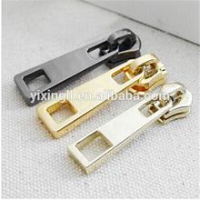 custom design puller gold zipper slider for handbag