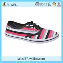 Stripe china wholesale fashion lady shoes casual shoes