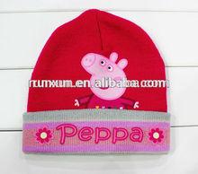 2014 wholesale alibaba fashion knitted children animal winter hat