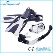 2015 New best snorkel mask set with open heel fin