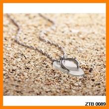 Romantics Slipper Opal 925 Silver Necklace Pendant Wholesale ZTB 0089