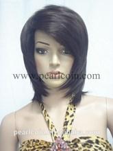 Lowest Price Fashionable Stylish 100% Human Hair Straight Tangle Free Regular Machine Made Wig