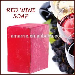 Custom made red wine soap skin whitening soap harmony bath soap China cosmetics factory