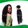 la belleza corto rizado brasileño extensiones de cabello negro para las mujeres