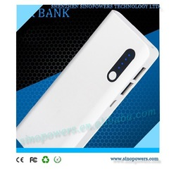 High quality LED torch 10000mAh mobile power bank, dual output 10000mAh cell phone portable power bank charger