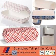Long snack paper box/paper packaging hamburger boxes/Hot dog box