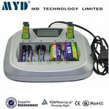 AA, AAA, C, D 9V Ni-mh Ni-cd battery charger, universal battery charger