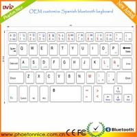 OEM customize Spanish universal wireless bluetooth keyboard Case for 7-8 9.7-10.1inch