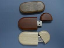 Cheap Wooden USB Flash Drive with Engraved Logo Print 1GB/2GB/4GB