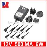 ac dc 12v 500ma led switching power supply