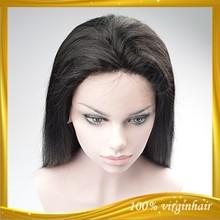 Gluessless lace front wig cheap virgin quality hair brazilian human hair wig