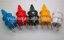 PC& BRASS waterproof male POWER plug with CE