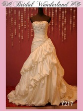 Taiwan style strapless wedding dress real picture