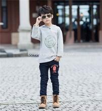 2014 latest summer korea boys kids autumn winter grey Cotton fleece coat