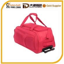 waterproof durable nylon trolley travel bag