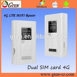 dual sim card 4G LTE FDD/TDD/UMTS mini 3g 4g wifi router multi sim with power bank