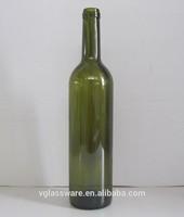 empty 750ml antique green wine glass bottle