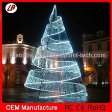 2014 popular and China direct factory sale christmas tree led and led bulb light on metal frame christmas tree