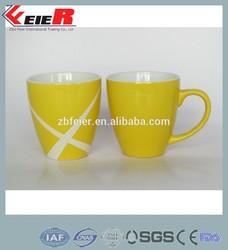 lipton yellow coffee mug