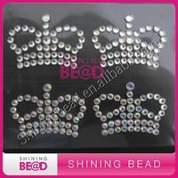 shiny crown shape rhinestone sticker for decoration