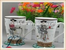 simple porpular design round porcelain mug
