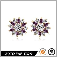 Wholesale fashion alloy stud earring jewelry fox racing stud earrings