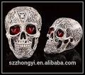 2014 fornitore porcellana caldo di nuovi prodotti dotare ha condotto la luce teschio testa in resina, ingrosso cartoon scheletro umano