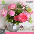decoração de casa direto da china peônia arranjos de flores artificiais para hotéis